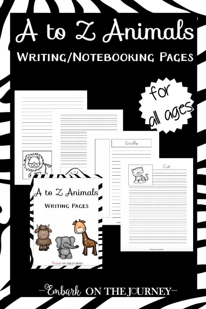 FREE Animal Notebooking Pages