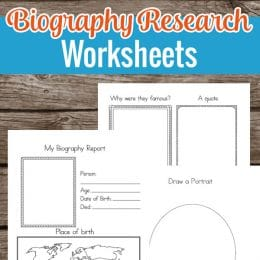 FREE Biography Research Worksheets