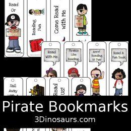 FREE Pirate Bookmarks