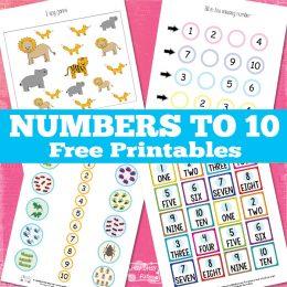 FREE Numbers to 10 Printables