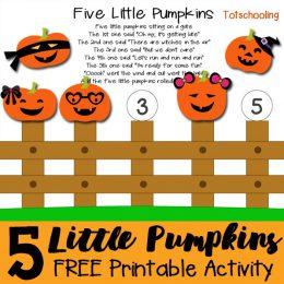 FREE 5 Little Pumpkins Activity
