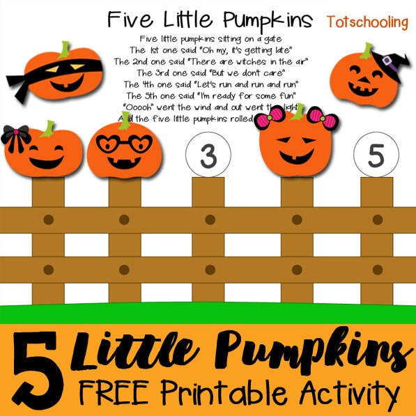 free 5 little pumpkins activity free homeschool deals Free Autumn Clip Art September Calendar Clip Art