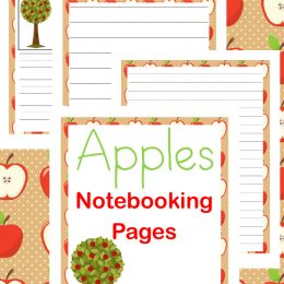 FREE Fall Apple Notebooking Pages