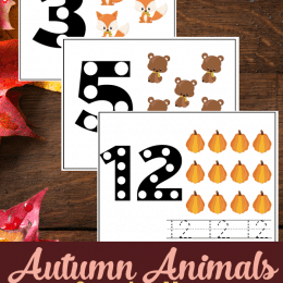 FREE Autumn Animal Counting Mats