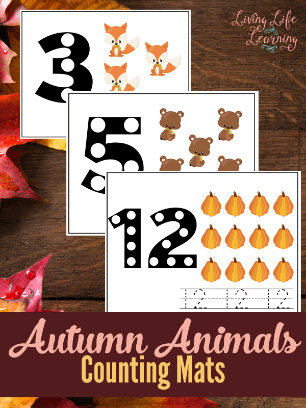 FREE Autumn Counting Mats