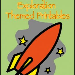 FREE Space Exploration Themed Printables