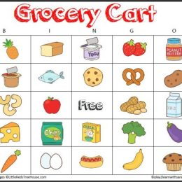 FREE Grocery Shopping Bingo Game and Scavenger Hunt