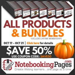 50% Off Products & Bundles at NotebookingPages.com – Ends Soon!