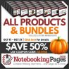 50% Off Products & Bundles at NotebookingPages.com - Ends Soon!