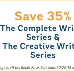 35% Off The Complete Writer & The Creative Writer Series