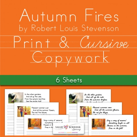 Free Autumn Fires Poetry Copywork