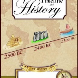 Free Timeline of History Notebook