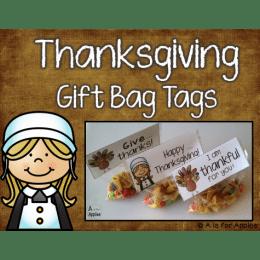 Free Thanksgiving Gift Bag Tags