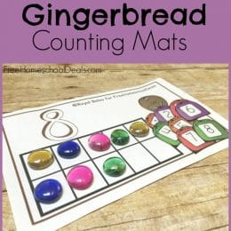 FREE GINGERBREAD COUNTING MATS (Instant Download!)