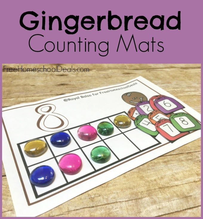 Free Gingerbread Counting Mats Instant Download Free