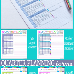 FREE Quarter Planning Pages