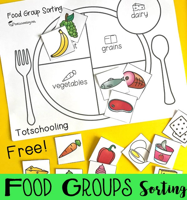 Food And Activities: FREE Food Groups Sorting Activity
