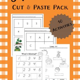 FREE AUTUMN CUT AND PASTE PACK (Instant Download!)