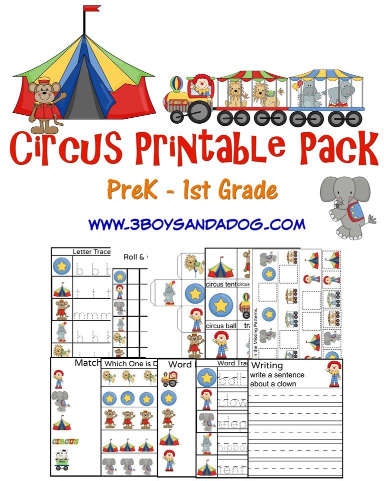 FREE Circus Printables Pack