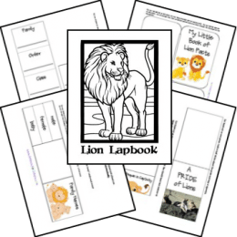 FREE Lion Lapbook