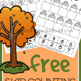 FREE Fall Skip Counting Worksheets