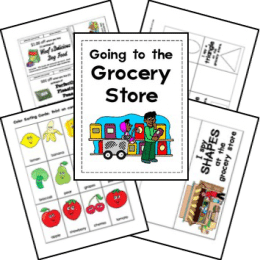 FREE Grocery Store Lapbook