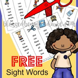 FREE Sight Word Bookmarks