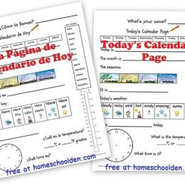 FREE Daily Calendar in English and Spanish