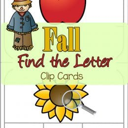 FREE Fall Find The Letter Clip Cards