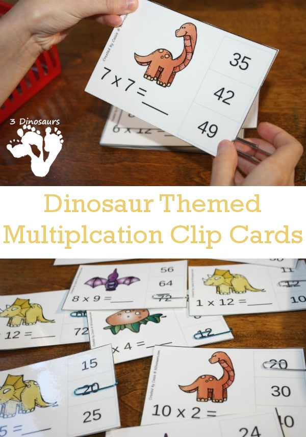 FREE Multiplication Clip Cards