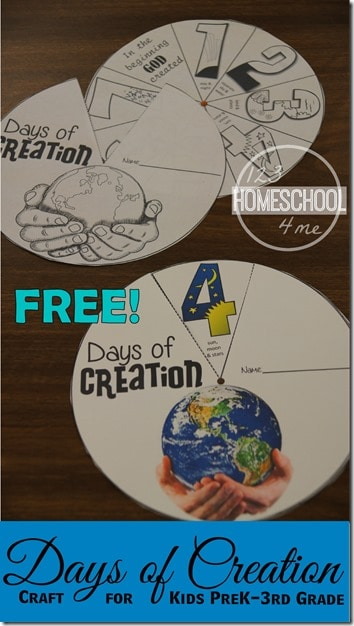 Free Days Of Creation Craft Free Homeschool Deals