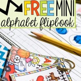 FREE Alphabet Mini Flip Book
