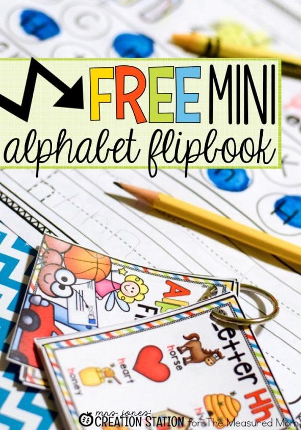 FREE Alphabet Mini Flip Book