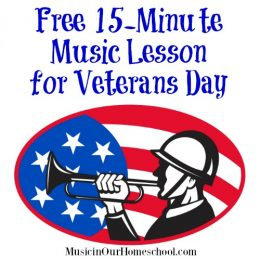 FREE Veterans Day Music Lesson