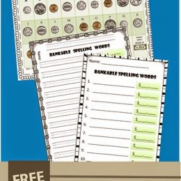 FREE Bankable Spelling Activity