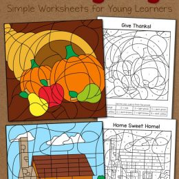 Free Thanksgiving Color By Number Worksheets