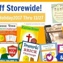 40% Off Digital Products at Proverbial Homemaker – Lego Challenges, Planners, & More!