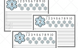 FREE SNOWFLAKE NUMBER PRACTICE PRINTABLES (Instant Download)