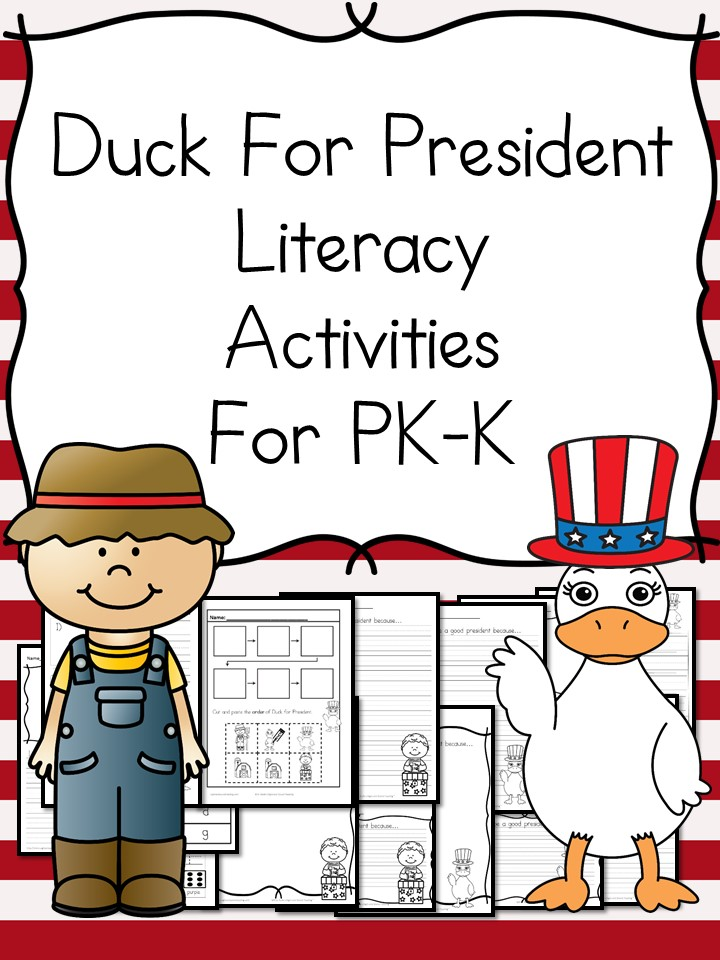 Free Duck for President Literacy Activities Pack | Free ...