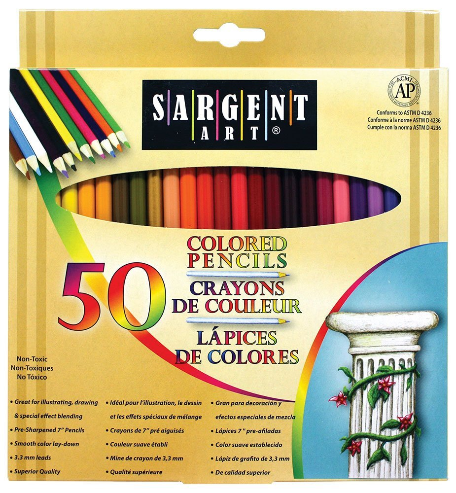 Sargent Art Colored Pencil 50 Pack Only $6.14! (43% Off!)