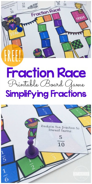 Breathtaking image for printable fractions games