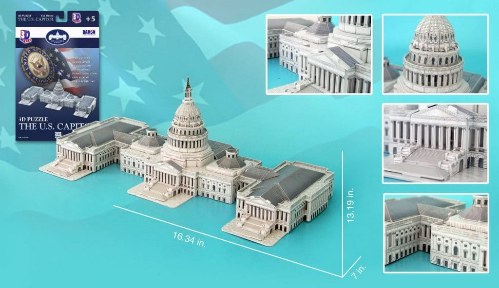 US Capitol Building 3D Puzzle Only $11.97!