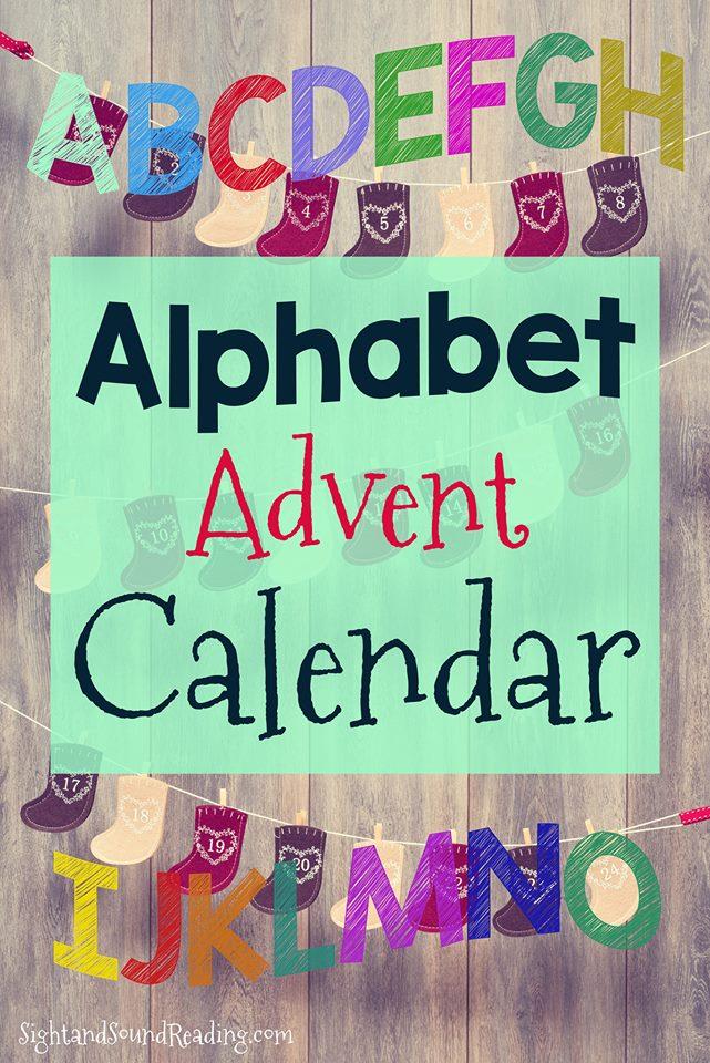 Free Alphabet Advent Calendar