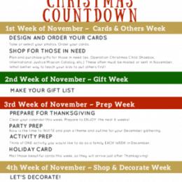 Free Christmas Countdown Planner