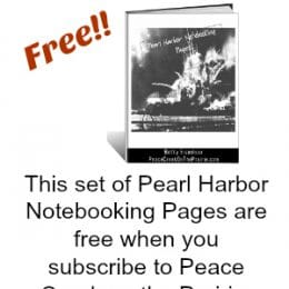 Free Pearl Harbor Notebooking Pages