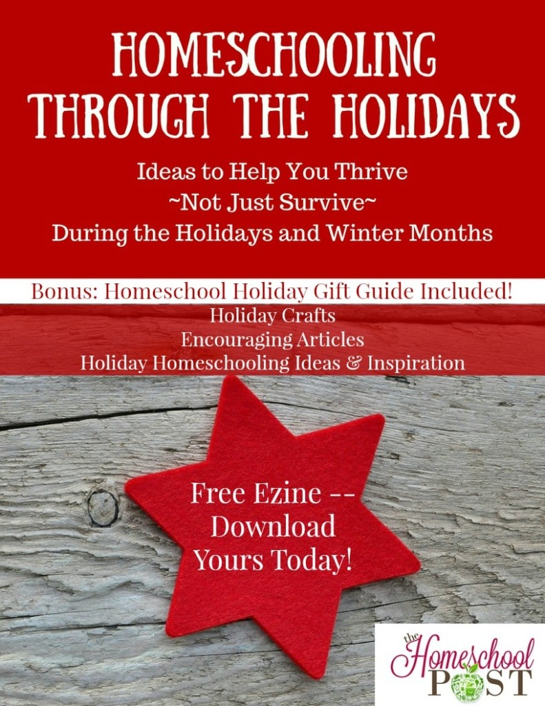 Free Homeschooling Through the Holidays Ezine