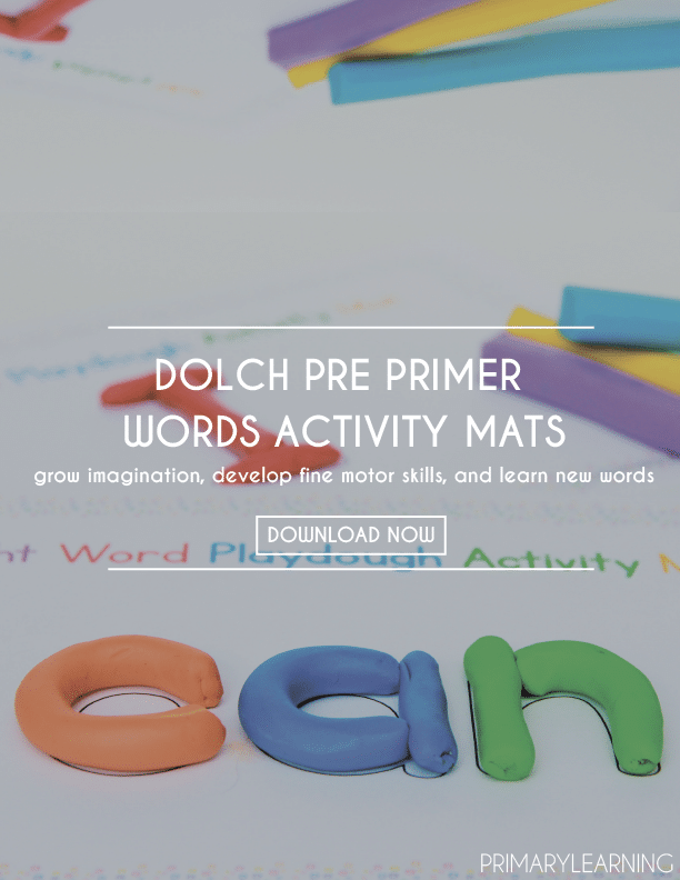 Free Sight Word Playdough Mats