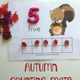 FREE FALL COUNTING MATS (Instant Download!)