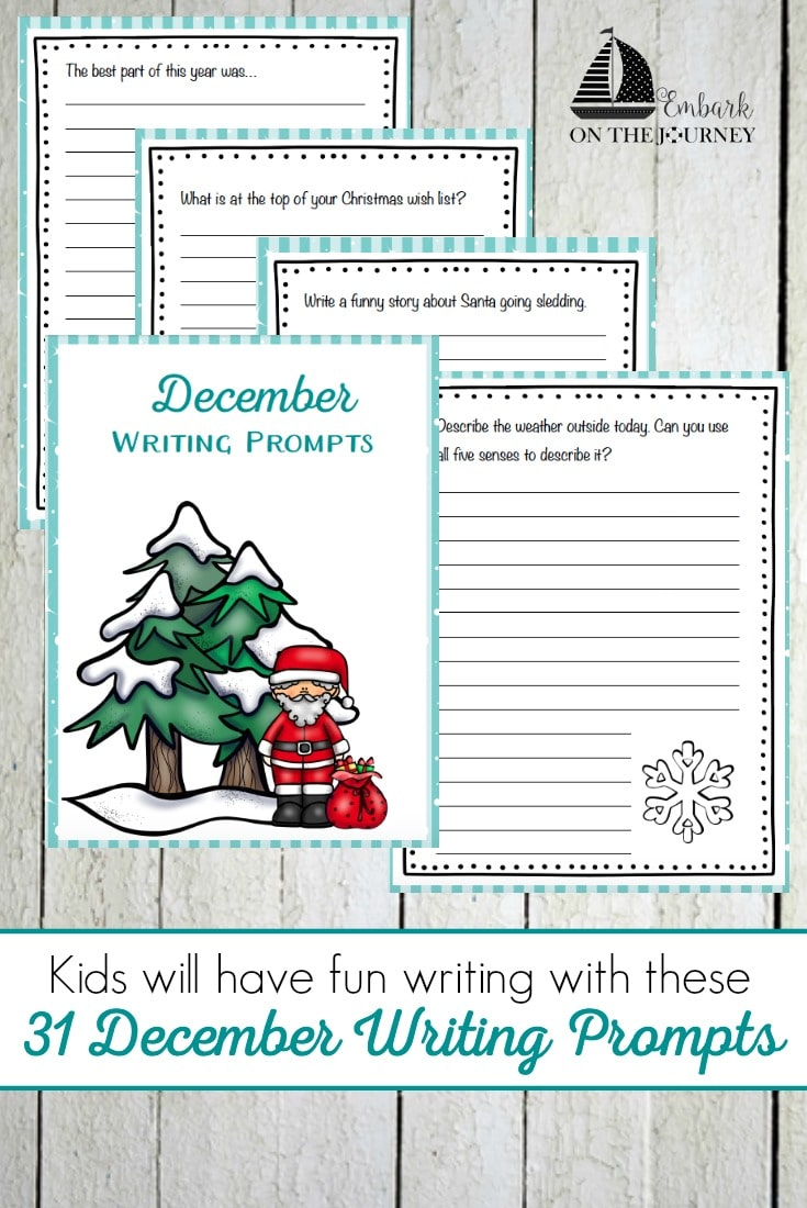 Free December Writing Prompts