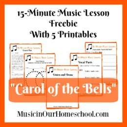 Free Carol of the Bells Music Lesson w/ Printables